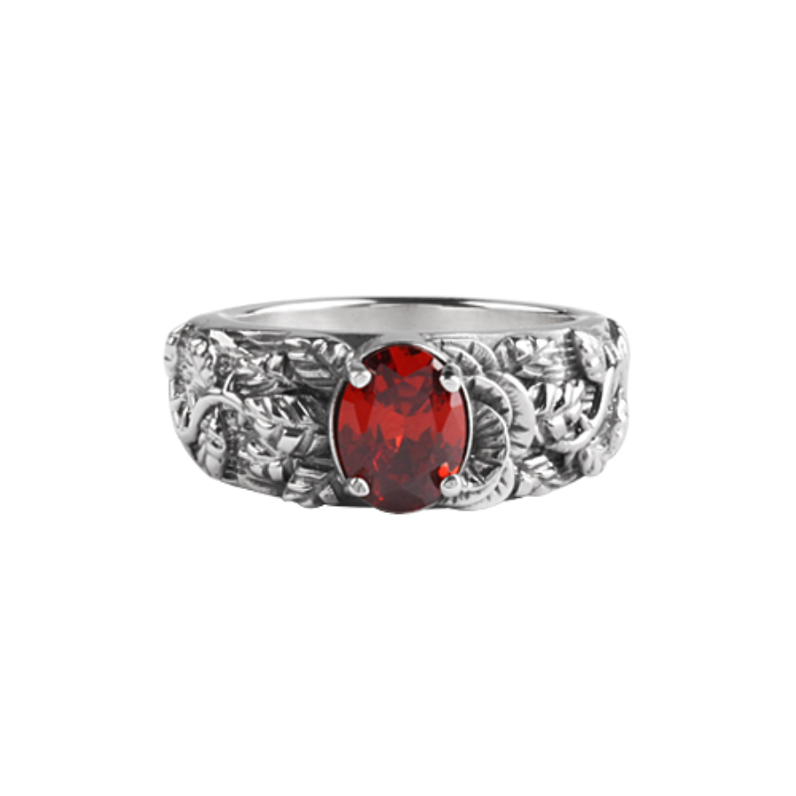 [MAXXIXI] Half rose ring - red