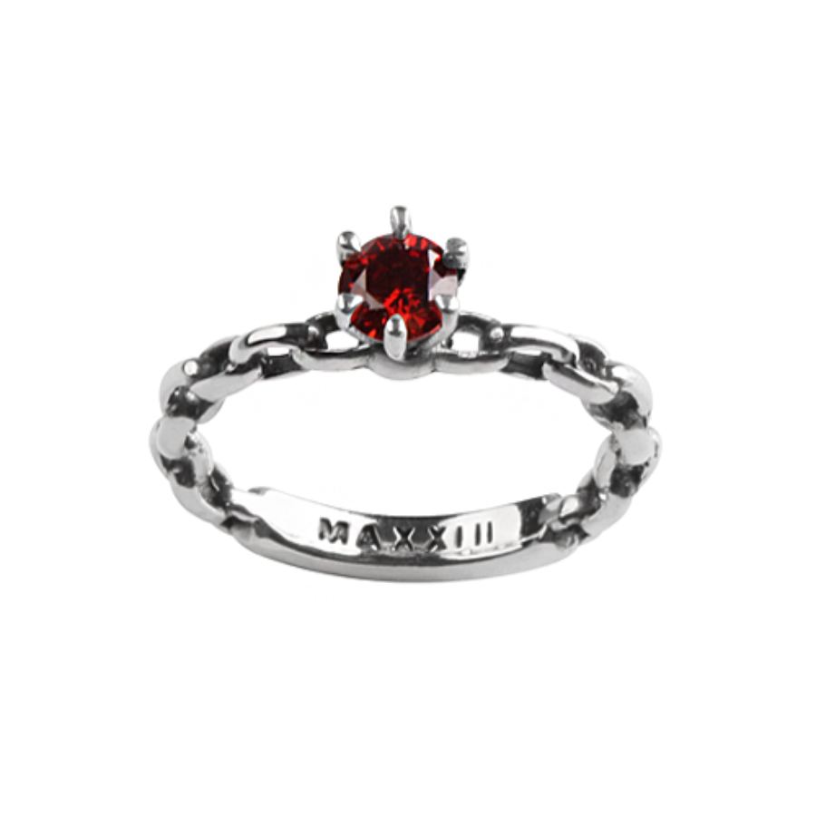 [MAXXIXI] Chain wedding ring - red