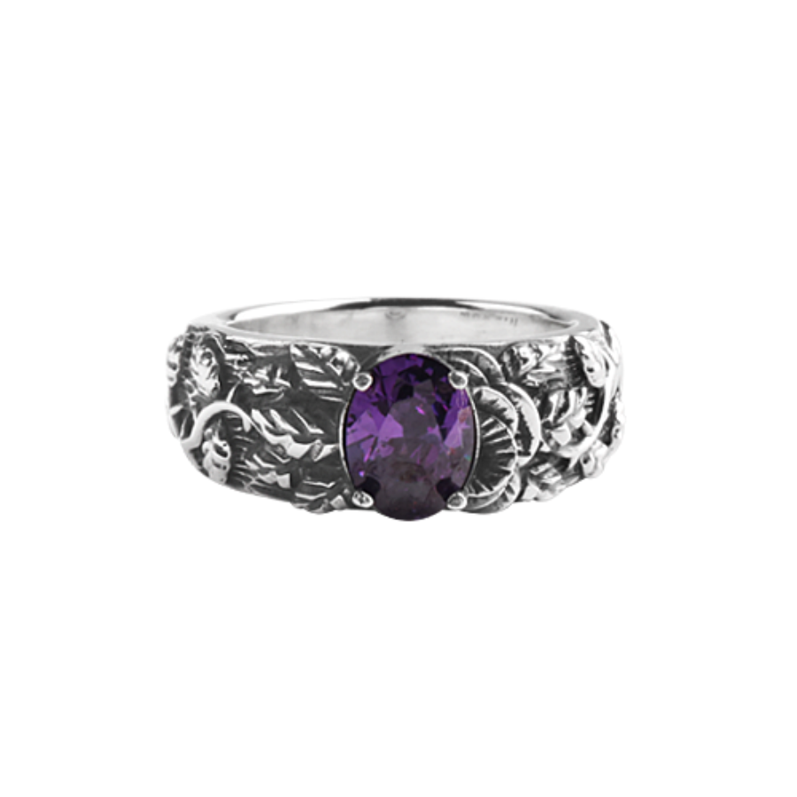 [MAXXIXI] Half rose ring - violet