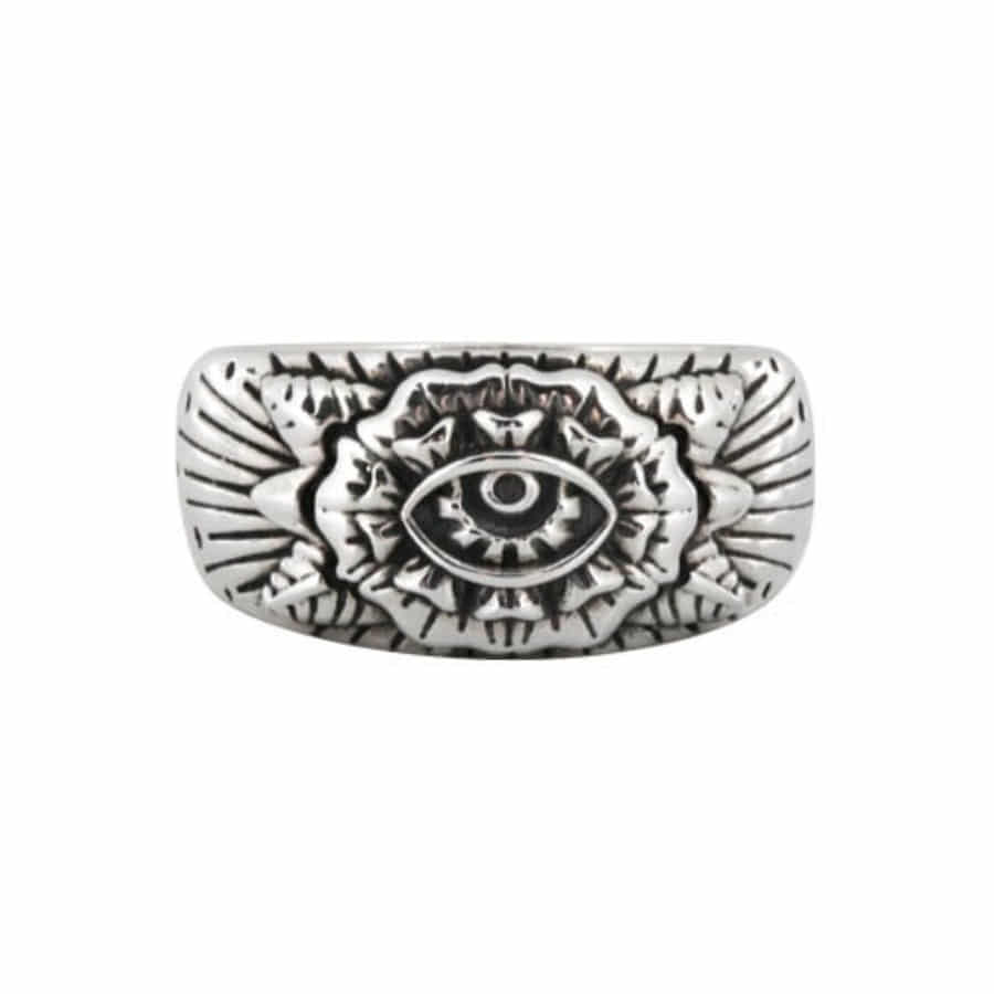 Oldschool Flower Eye ring