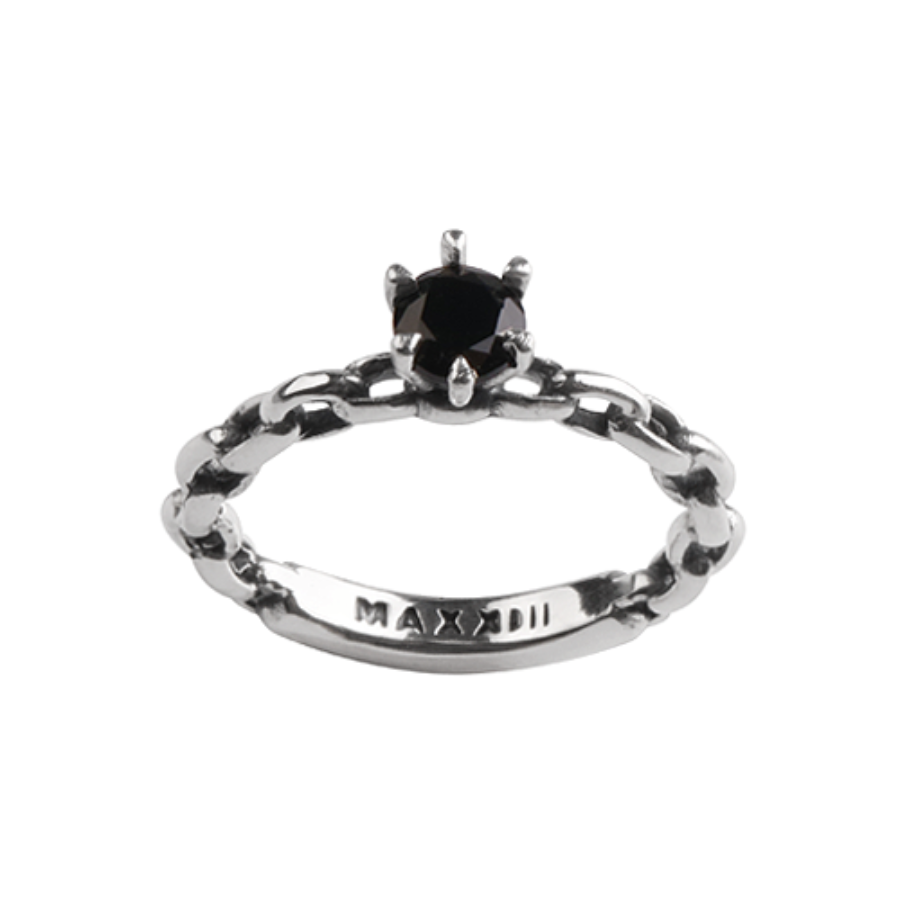 [MAXXIXI] Chain wedding ring - black